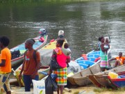Boats areansport means for locals the only tr