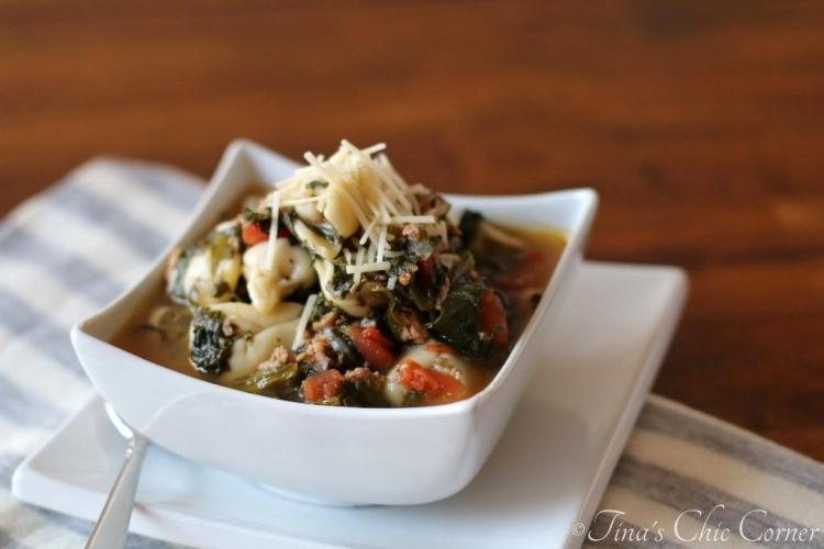 02Rustic Italian Tortellini Soup