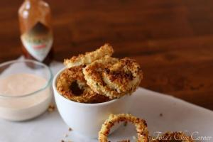 12Crispy Baked Onion Rings