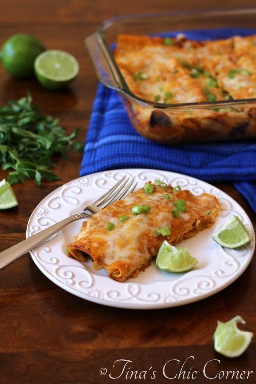 09Black Bean and Cheese Enchiladas
