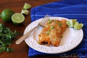 10Black Bean and Cheese Enchiladas