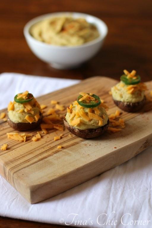 10Jalapeno Hummus Stuffed Mushrooms