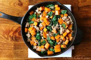 01Butternut Squash, Kale, and Sausage
