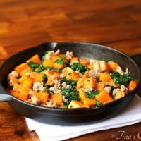 Butternut Squash, Kale And Sausage