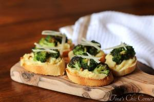 13Roasted Broccoli and Parmesan Polenta Bites