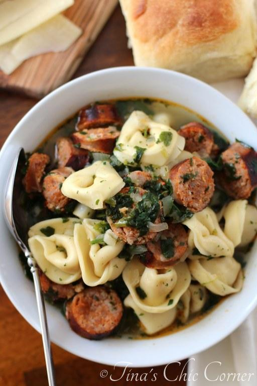 Sausage and Tortellini Soup07