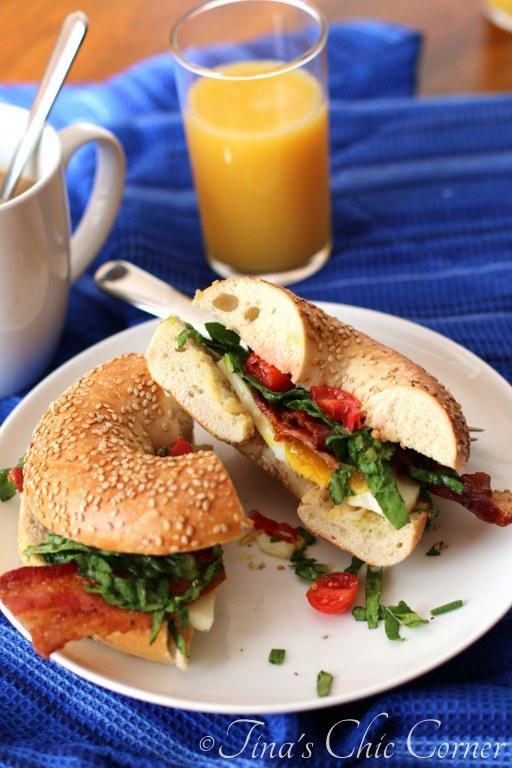 BLT Egg Bagel Sandwich06