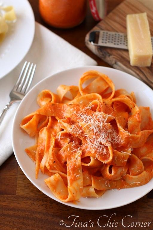 Lighter Roasted Red Pepper Pasta02