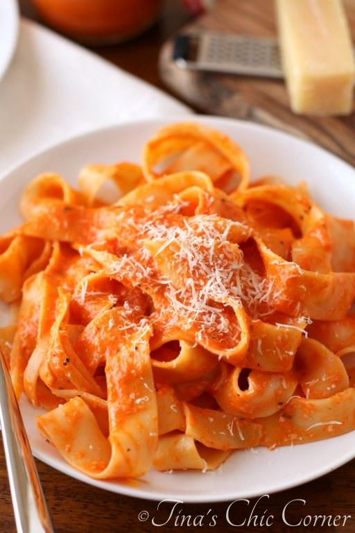 Lighter Roasted Red Pepper Pasta06