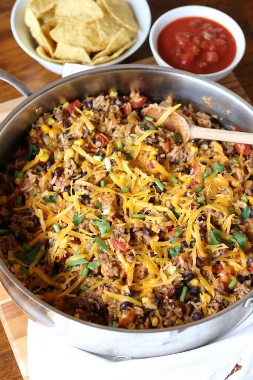 One Pot Burrito Bowls07