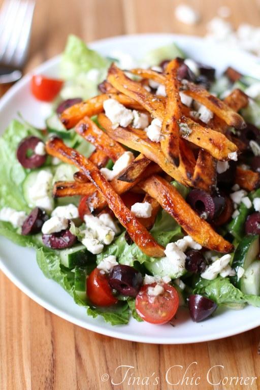 Greek Sweet Potato Fry Salad06