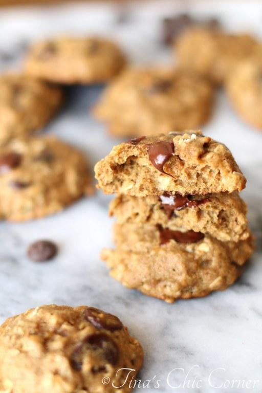 Whole Wheat Banana Oatmeal Chocolate Chip Cookies07