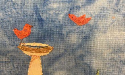 Block-A-Day 224 – The Small Birdbath