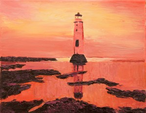 New Brighton Light House painting by Tina A Stoffel