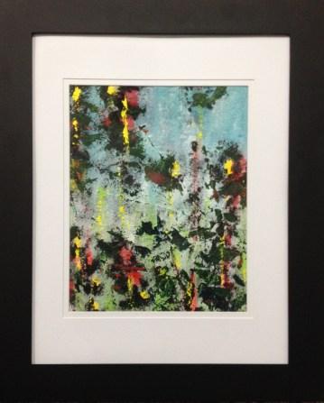 Midsummer Fields II (acrylic on textured paper)