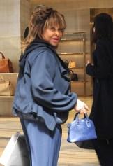 Tina Turner Out Shopping In Milan