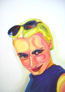 'Flirting with reality', oil painting by Tina Wilson, 2005