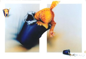 Airbrush and watercolour illustration by Tina Wilson, 1999