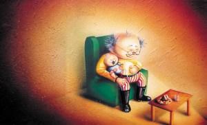 Illustration by Tina Wilson, 2000. Airbrush, acrylic and gouache