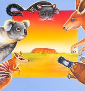 Back cover for the children's picture book: Harry the Hairy-nosed Wombat & Other Australian Animal Tales