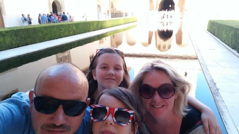 Selfie of the Tin Can Family at the Alhambra