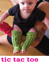 Tic Tac Toe baby legwarmers