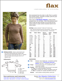 Flax Sweater by Tin Can Knits