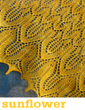 Sunflower Shawl by Tin Can Knits