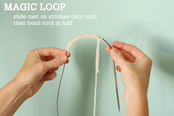 Knitting Zone Cast On For Two Circular Needles : Magic loop technique how to knit in the round using a