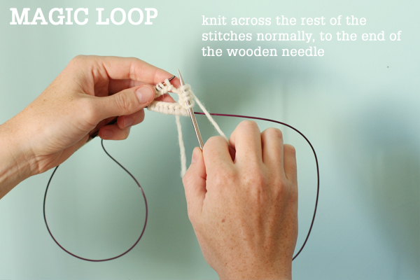 Knitting On Circular Needles Too Long : Magic loop technique how to knit in the round using a