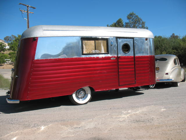 "1934 Silverdome 18' RESTORED ""Ground Up"" FULLY self contained WITH full bathroom in a vintage style"