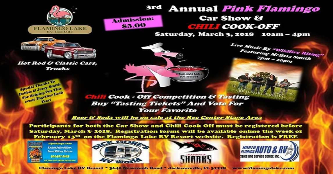 Rd Annual Pink Flamingo Chili Cook Off Car Show Tin Can Tourists - Car show jacksonville fl 2018