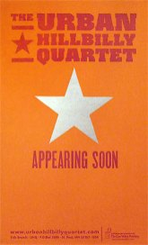 Urban Hillbilly Quartet Gig Poster
