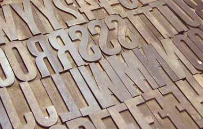 Wood Type in a Drawer