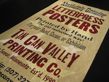 Tin Can Valley Letterpress Posters