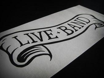 Live Band Linocut