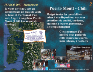 Plan du Sud du Chili, indiquant Rincón de Angel, présentation pour l'IFPECO