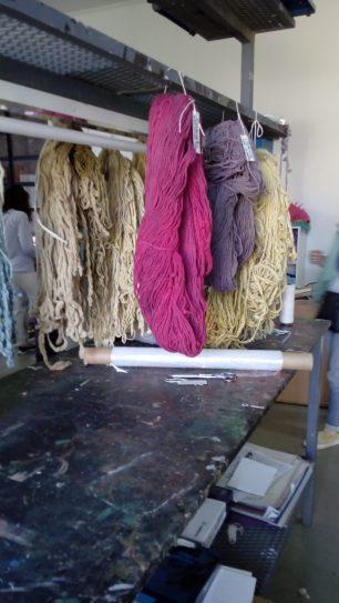 Résultat des teintures aux plantes à Santa Fé, Argentine