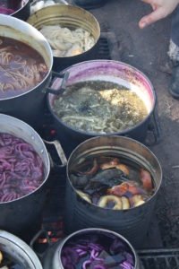 Teinture aux déchets de maté bouilli