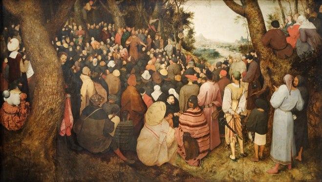 La Prédication de Saint Jean-Baptiste (1566)  Pieter Brueghel l'Ancien
