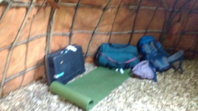 Mes babages ont trouvé un peu de repos dans cet abri du Village Lacustre