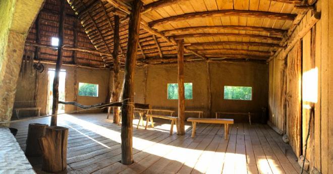 La maison du Bronze, vue de l'intérieur