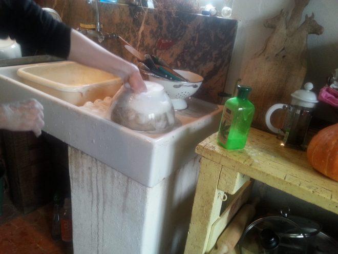 lavage de la laine