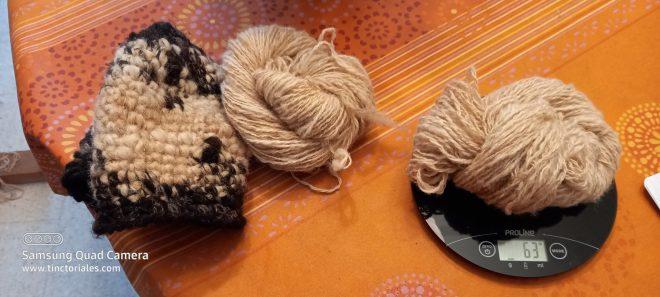 pesée laine écharpe