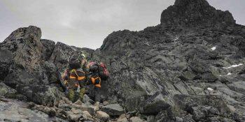 Guided alpine climb at Mt. Store Skagastølstind