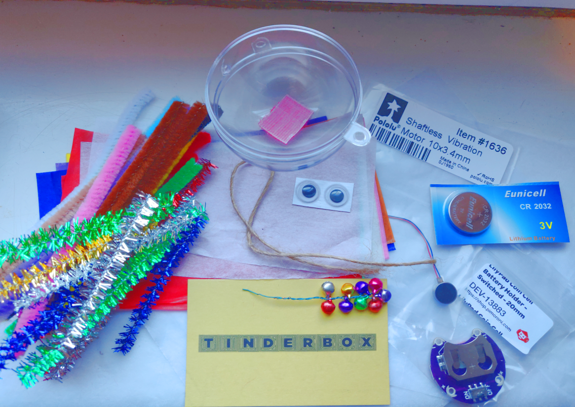 Tinderbox Makerbox Bauble Kit Contents Laid Out
