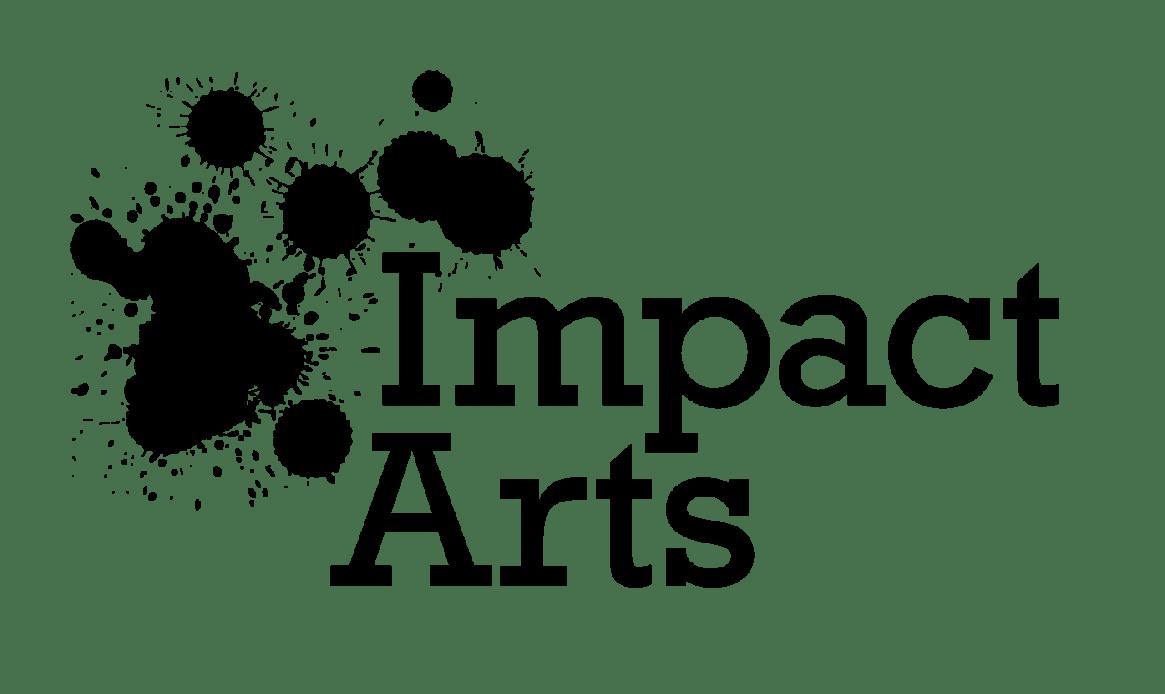 IMPACT ARTS (2-LINE CMYK) TRANSPARENT BLACK