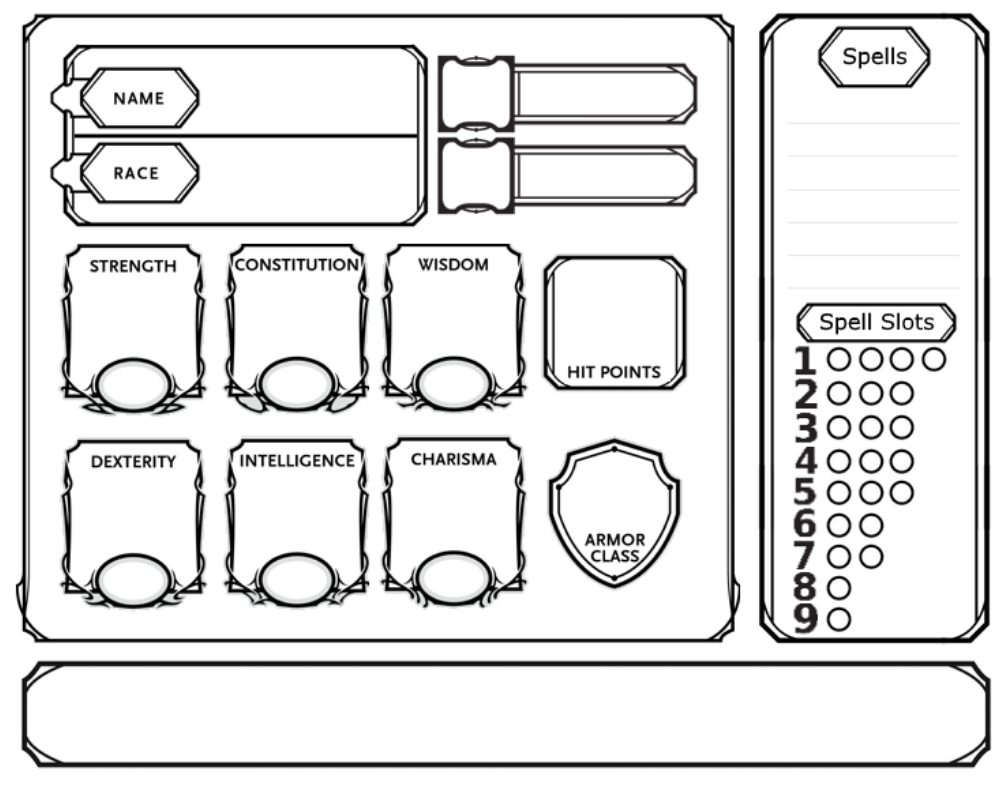 Simple DnD Character Sheet