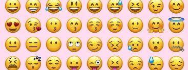 row with emojis