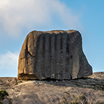 Cube rock in North East Tasmania
